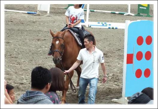 柴山騎手の引き馬